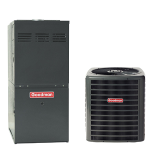 1-1/2 ton goodman 14 seer r22 air conditioning system  h/p [gsh130181/aepf183016]